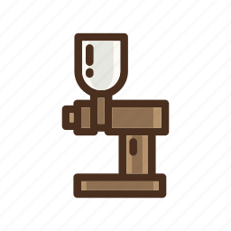 coffee, color, electric, filled, grinder icon