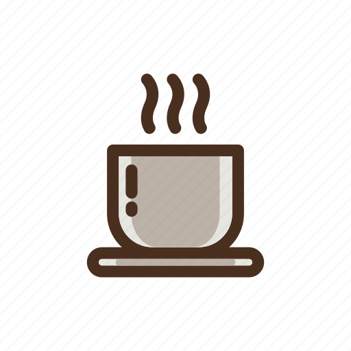 coffee, color, cup, filled, fresh, hot icon