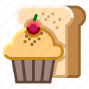 bakery, cake, cup, hospital, muffin icon