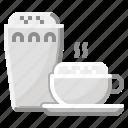 cappuccino, coffee, cold, hospital, ice icon