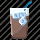 coffee, drink, hospital, ice, milk, pot, water icon