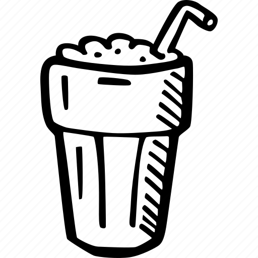 coffee, coffee break, cup, drink, hand drawn, ice coffee icon