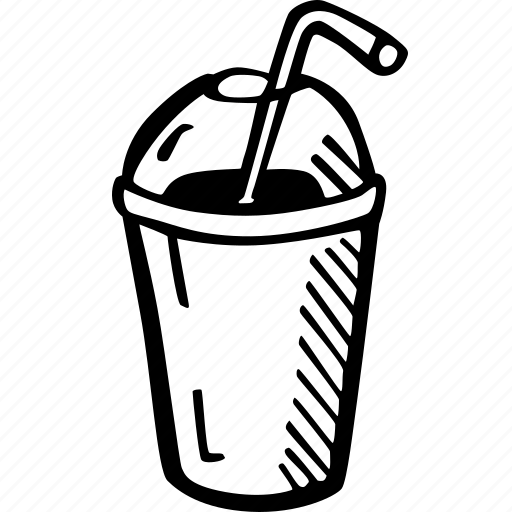 coffee, coffee break, cup, drink, frape, frappuccino, hand drawn icon