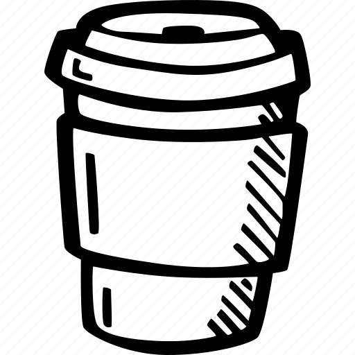 coffee, coffee break, cup, drink, hand drawn, hot, large icon