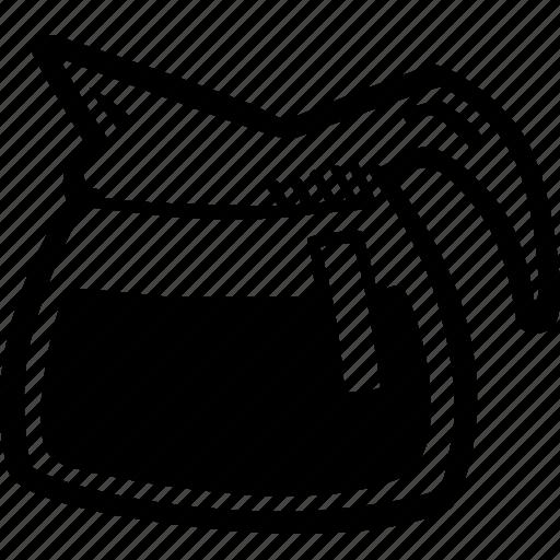 coffee, drink, hand drawn, hot, pot icon