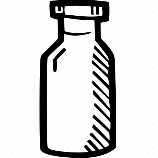 bottle, drink, hand drawn, milk icon