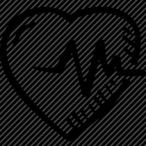 ekg, hand drawn, health, heart, heart desease icon