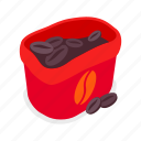 coffee, sack, beans, grain icon