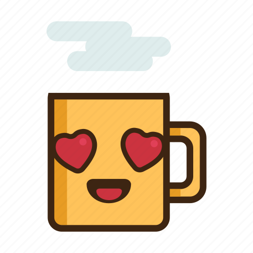beverage, coffee, hearts, hot, love, mug, tea icon