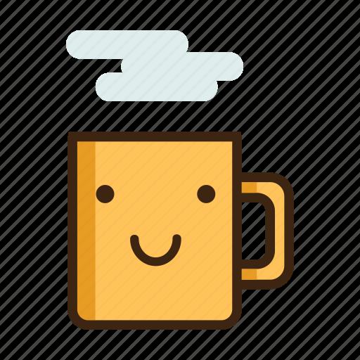 'Coffee Mug Emoji in Different Expressions' by Akshar Pathak