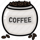 beans, cafe, coffee, cup, restaurant icon