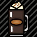 coffee, cup, drink, espresso, glass icon