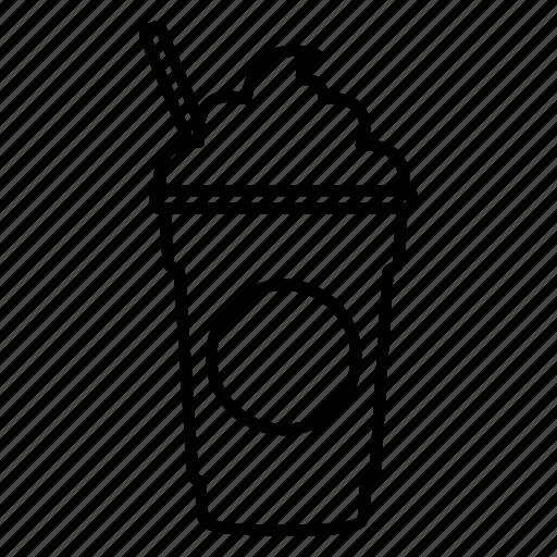 coffee, coffee shop, frappe, frappuccino, mocha, starbucks, straw icon