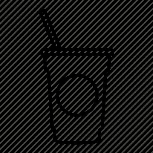coffee shop, drink, frappe, juice, soda, starbucks, straw icon