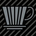 coffee, shop, dripper, equipment icon