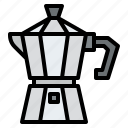coffee, moka, equipment, shop, pot icon
