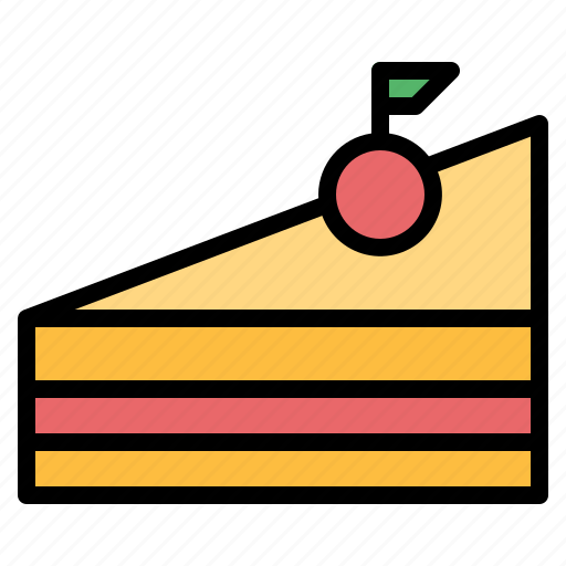 cake, dessert, piece, sweet icon