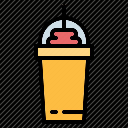 coffee, cold, frappe, glass, shop icon