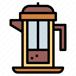 coffee, french, plunger, press, utensil icon
