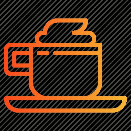 cappuccino, coffee, espresso, shop icon