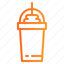 coffee, cold, frappe, glass, shop icon