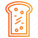 bakery, bread, breakfast, toast icon