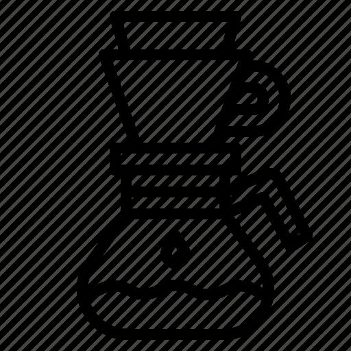 cafe, coffee, drip, dripper icon