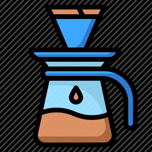 business, coffee, drip, glass, shop icon