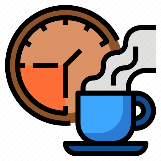 business, coffee, shop, stop, time, watch icon
