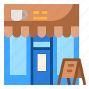 building, business, coffee, front, shop icon