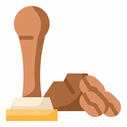 bean, business, coffee, shop, tamper icon