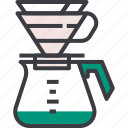 brew, drip, coffee, hario, syphon, drink, brewing icon