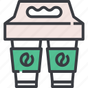 away, breakfast, coffee, cup, drink, take, takeaway icon
