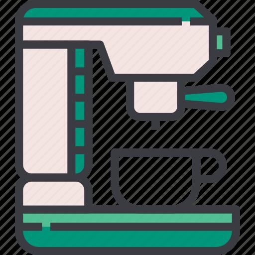 Caffeine, coffee, cup, drink, espresso, machine, maker icon - Download on Iconfinder