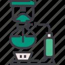 barista, brew, cafe, coffee, drip, pot, vacuum icon