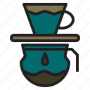 cafe, coffee, dark, drip, maker, time icon