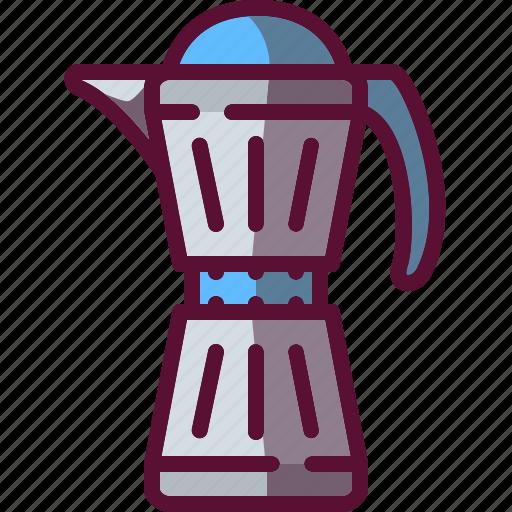 brewer, coffee, colored, pot icon