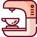 coffee, colored, cup, drink, machine icon