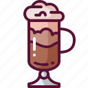 coffee, colored, drink, frappuccino icon