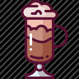 coffee, colored, drink, frappuccino icon