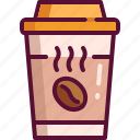 coffee, colored, cup, drink, hot, paper