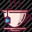 colored, cup, dink, hot, mug, tea icon