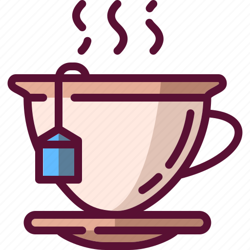 colored, cup, dink, hot, mug, tea icon