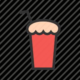 chocolate, cold, drink, glass, milk, milkshake, shake icon