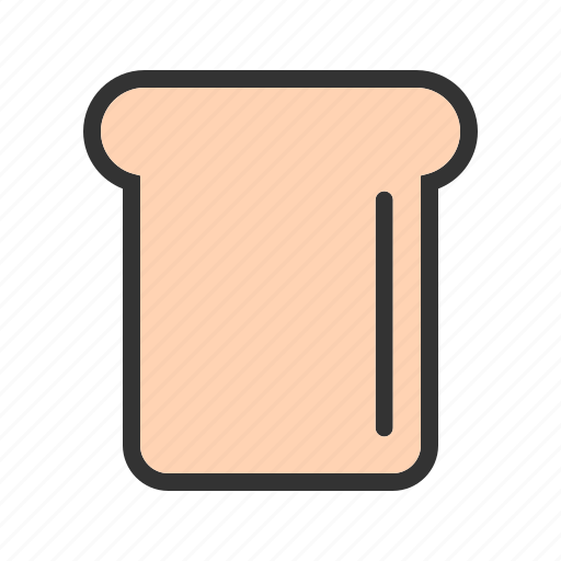 bread, brown, food, meal, sliced, snack, toast icon