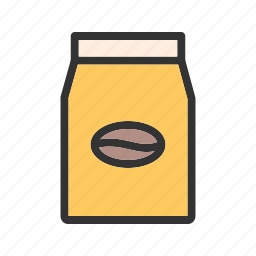bag, beans, beverage, coffee, drink, package, packet icon