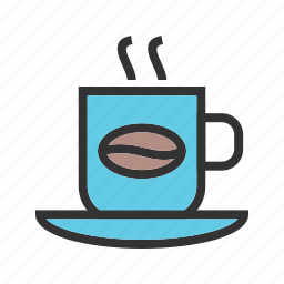 breakfast, coffee, cup, drink, espresso, hot, mug icon