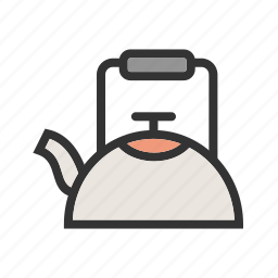 coffee, drink, electric, hot, kettle, power, water icon