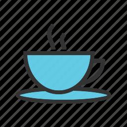 breakfast, cup, drink, healthy, hot, liquid, tea icon