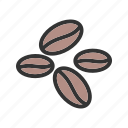beans, coffee, food, grain, natural icon